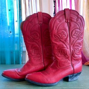 Ariat Women's Heritage Red Leather Cowboy Boot 10